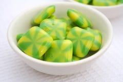 Caramelos verdes Foto de archivo libre de regalías