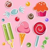 Caramelos y dulce Fotos de archivo libres de regalías