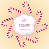 Caramelos y dulces de la Navidad Fotos de archivo