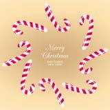 Caramelos y dulces de la Navidad Fotografía de archivo