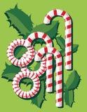 Caramelos y hojas libre illustration
