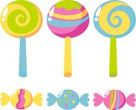 Caramelos y lollipops Imagen de archivo