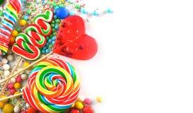 Caramelos y lollipops Fotografía de archivo