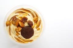 Caramelpudding Arkivfoto