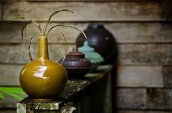 Caramic Vase der Weinlese Stockfotos