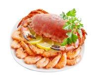 Caranguejo com camarão imagem de stock