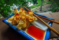 Caranguejo cozido rangoon Imagem de Stock