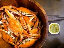 Caranguejo cozinhado fresco imagem de stock royalty free