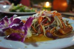 Caranguejo de cavalo da papaia da salada da papaia Imagem de Stock Royalty Free
