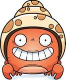 Caranguejo de eremita pequeno feliz Foto de Stock Royalty Free
