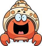 Caranguejo de eremita pequeno feliz Foto de Stock