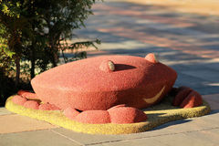 Caranguejo de sorriso de borracha vermelho engraçado Foto de Stock
