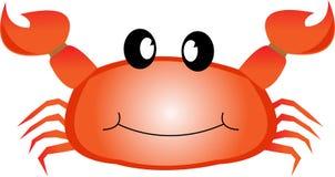 Caranguejo de sorriso do Mar Vermelho com garras. ilustração do vetor