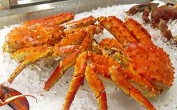 Caranguejo do Alasca cozinhado fotos de stock