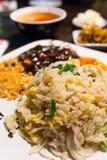 Caranguejo do arroz fritado Foto de Stock