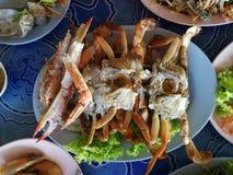 Caranguejo dos pés, alimento do alimento de mar tailandês Fotos de Stock
