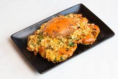 Caranguejo-fritado com pó de caril Fotografia de Stock Royalty Free