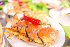 Caranguejo grande delicioso do prato dois Fotos de Stock