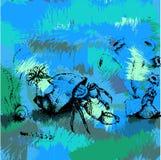 Caranguejo no oceano Fotografia de Stock