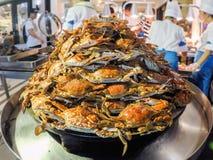 Caranguejos cozinhados foto de stock