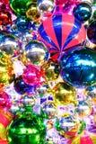 2008年caransebes圣诞节12月装饰罗马尼亚街道 免版税库存图片