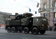 Carapace-s комплекса зенитной ракеты и оружия стоковое фото
