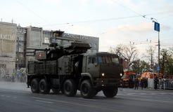 Carapace-s antiaérienne de complexe de missile et d'arme à feu image stock