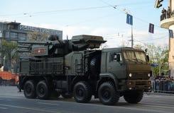 Carapace-s antiaérienne de complexe de missile et d'arme à feu images libres de droits