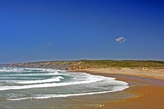 carapateira Португалия пляжа Стоковое Изображение RF