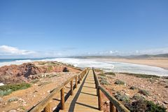 Carapateira beach in Portugal Royalty Free Stock Photography