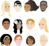 Caras 2 de la gente Foto de archivo libre de regalías