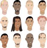 Caras 3 del Mens Imagen de archivo