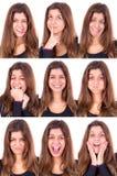 Caras Imagen de archivo libre de regalías