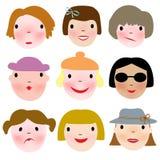 caras Imagen de archivo