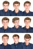 Caras adolescentes fotos de archivo