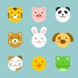 Caras animais Imagem de Stock Royalty Free