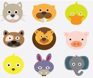 Caras animais engraçadas Fotografia de Stock