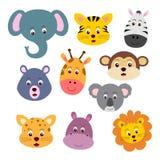 Caras animales ilustración del vector