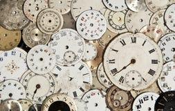 Caras antiguas del reloj Imágenes de archivo libres de regalías