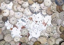 Caras antiguas del reloj Foto de archivo