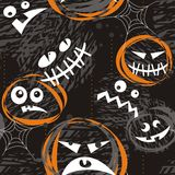 Caras asustadizas en obscuridad ilustración del vector
