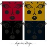 Caras bonitas, projeto criativo Imagem de Stock Royalty Free