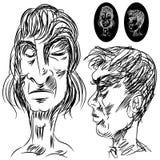 Caras cambiantes fijadas Imagenes de archivo
