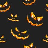 Caras cinzeladas abóboras do teste padrão Imagem de Stock Royalty Free