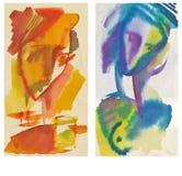 Caras coloridas Fotos de archivo libres de regalías