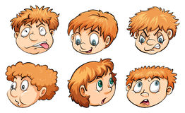 Caras con diversas emociones libre illustration