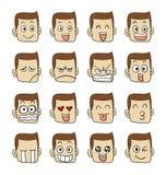 Caras das emoções dos homens Fotos de Stock