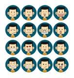 Caras das emoções dos homens Imagem de Stock Royalty Free