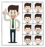 Caras das emoções dos homens Fotografia de Stock