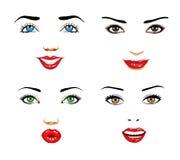 Caras das mulheres Ilustração Stock